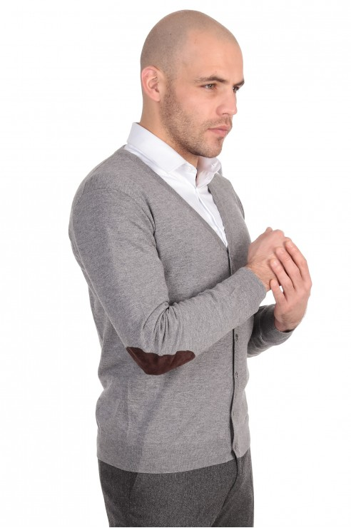 Gilet Boutons Gris Coudiere