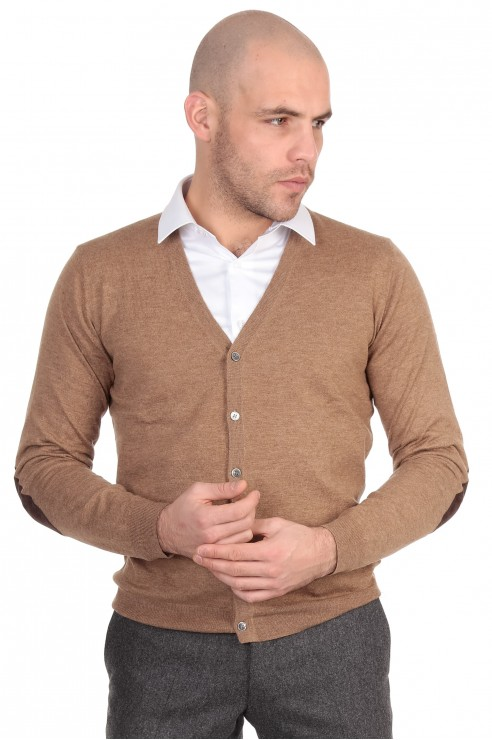 Gilet Boutons Camel Coudiere