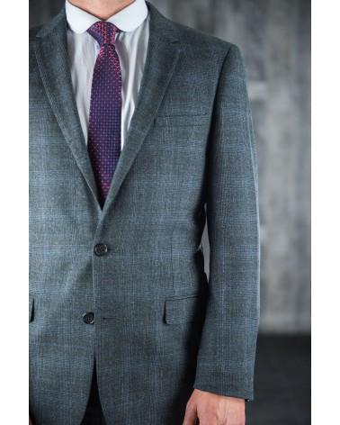 Costume Prince De Galles Gris/Bleu