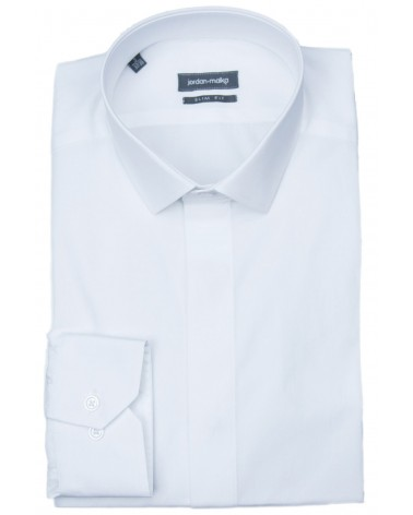 Chemise Blanche Gorge Cachée