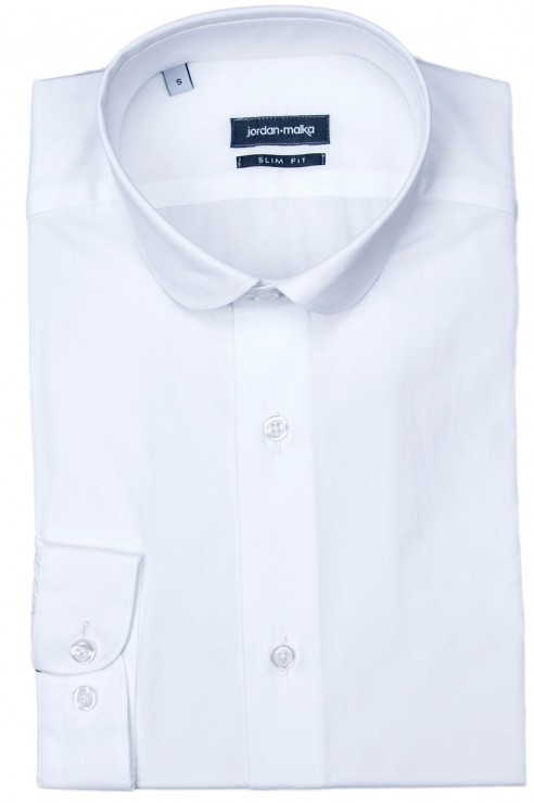 Chemise Col Claudine Blanche