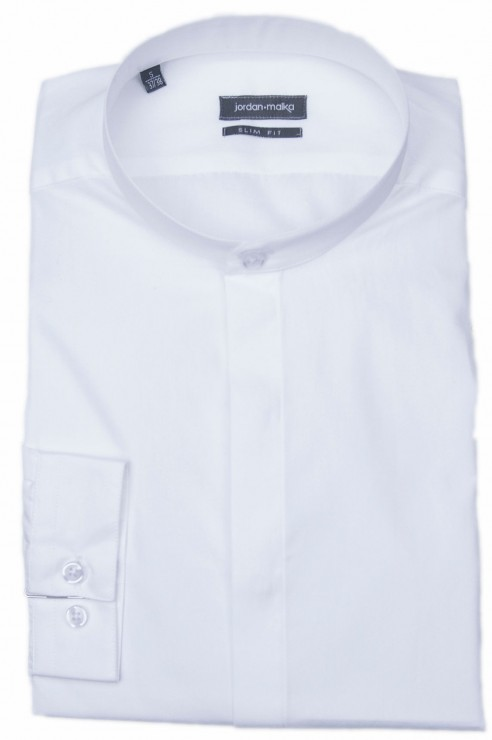 Chemise Col Mao Blanche
