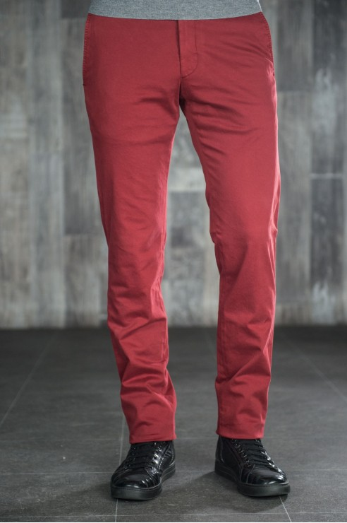 Pantalon Chino Bordeau