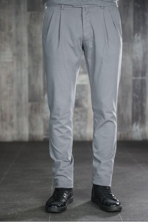 Pantalon Chino Gris à Pinces