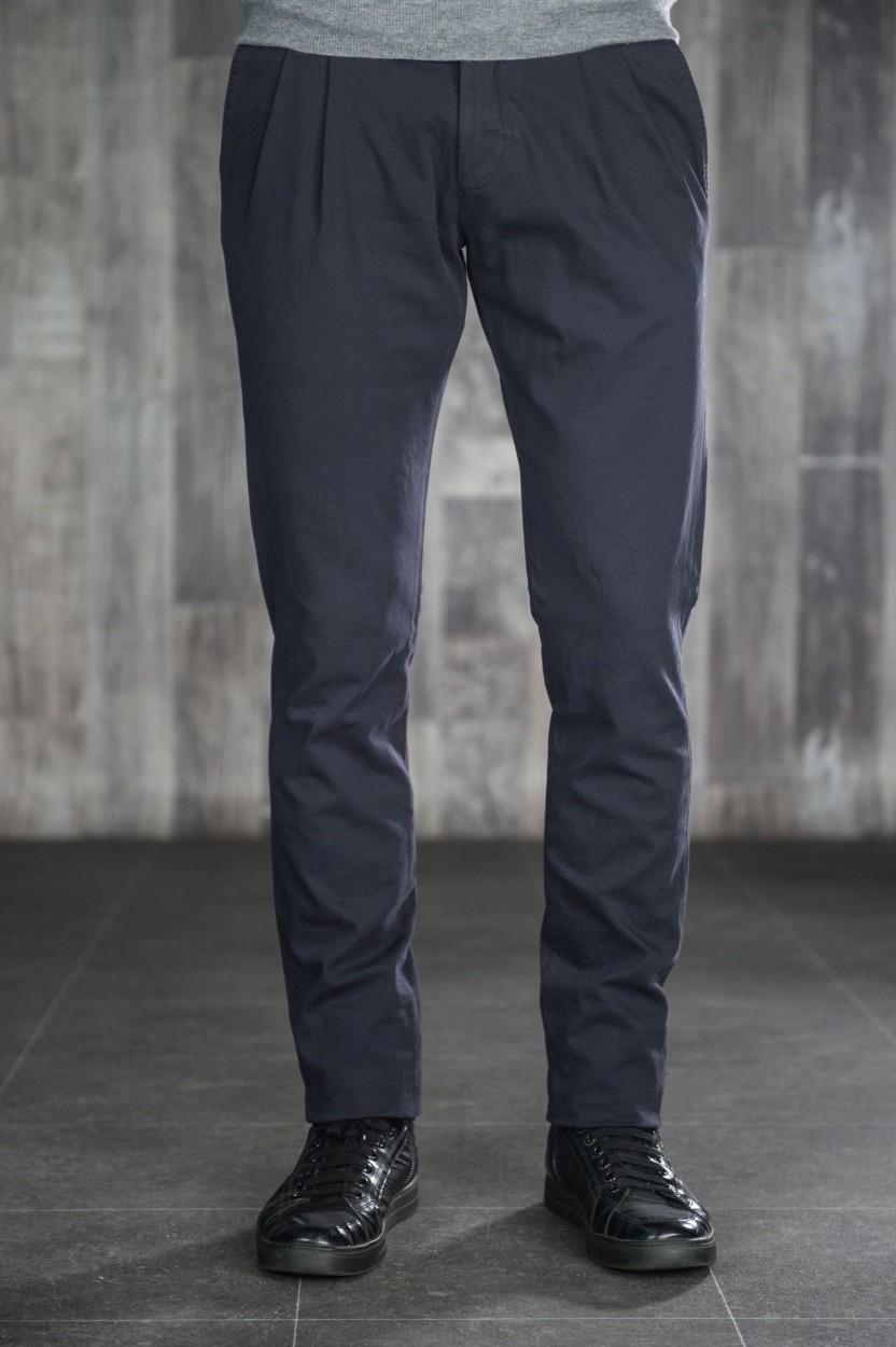 Pantalon Chino Noir à Pinces