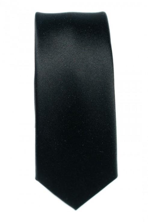 Cravate Noire Satin