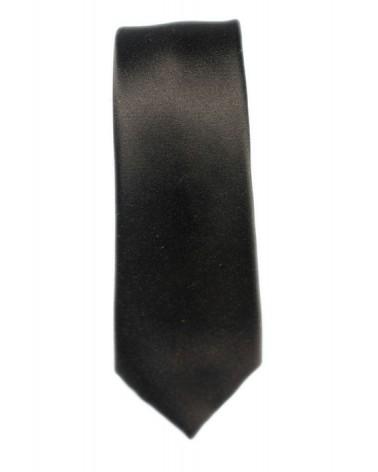 Cravate Marron Satin