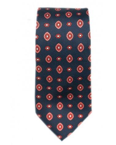 Cravate Marine Dessins Corails
