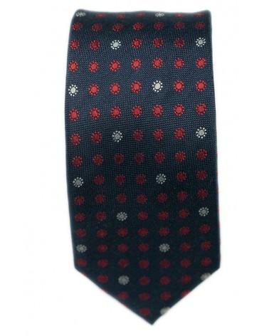 Cravate Marine Pois Rouge et Blanc