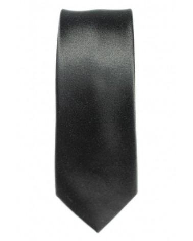 Cravate Anthracite Satin