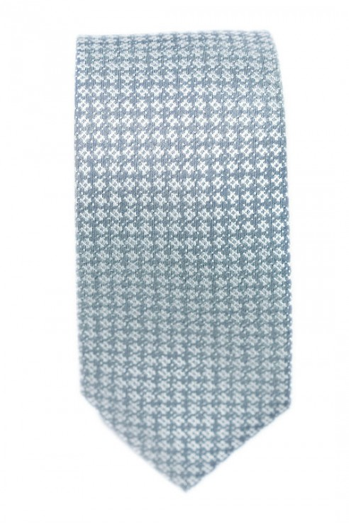 Cravate Grise Losange Blanc