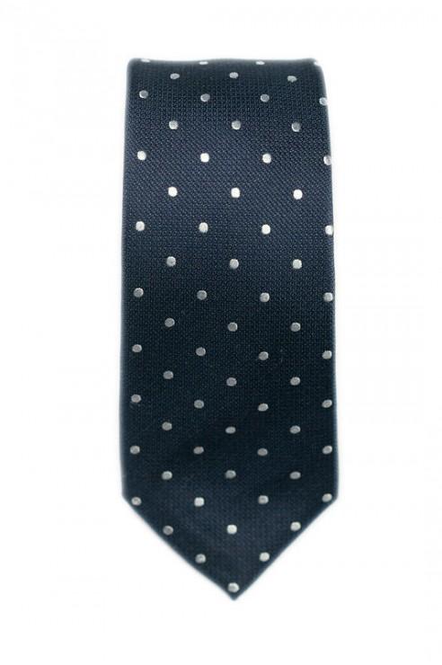 Cravate Marine Pois Blanc