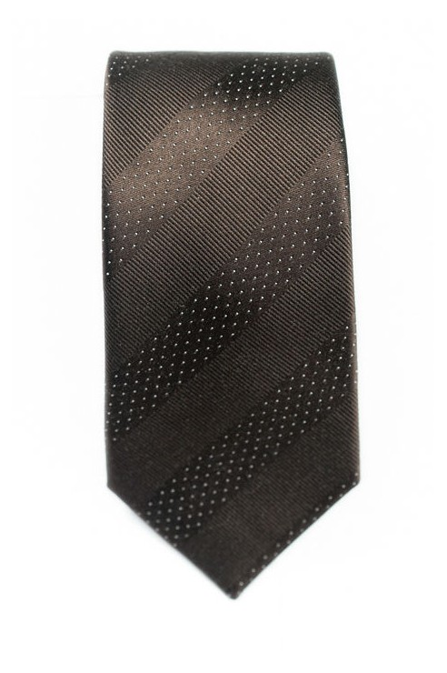 Cravate Marron Rayée