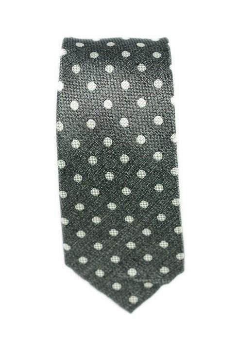 Cravate Grise Pois Blanc