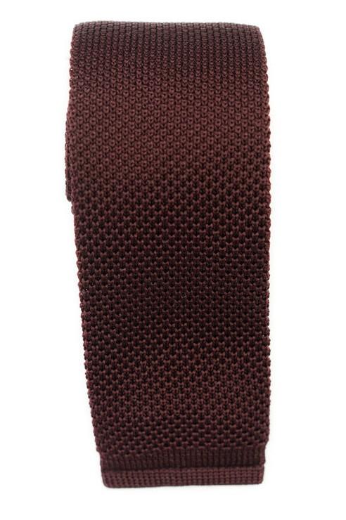 Cravate Tricot Bordeaux