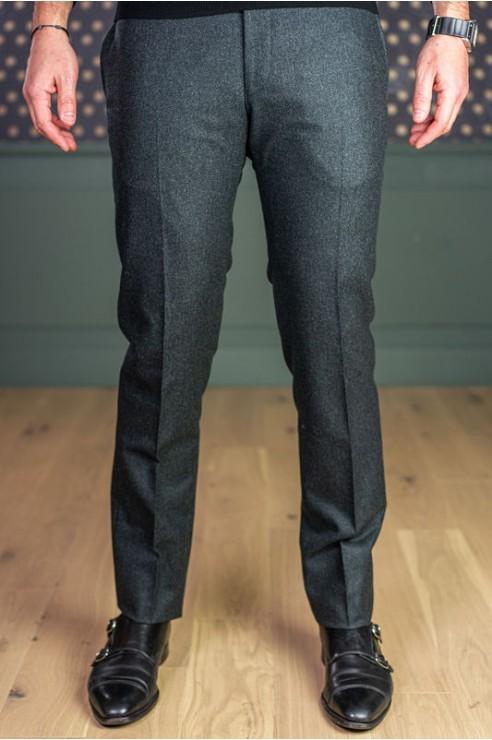 Pantalon en flanelle gris vert