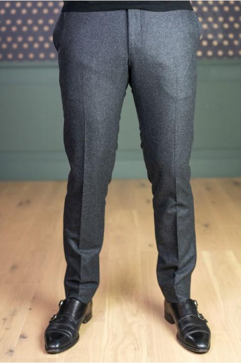 Pantalon en flanelle gris anthracite