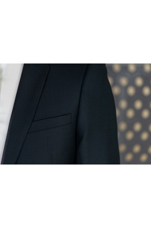 Costume Noir/Bleu Piqué