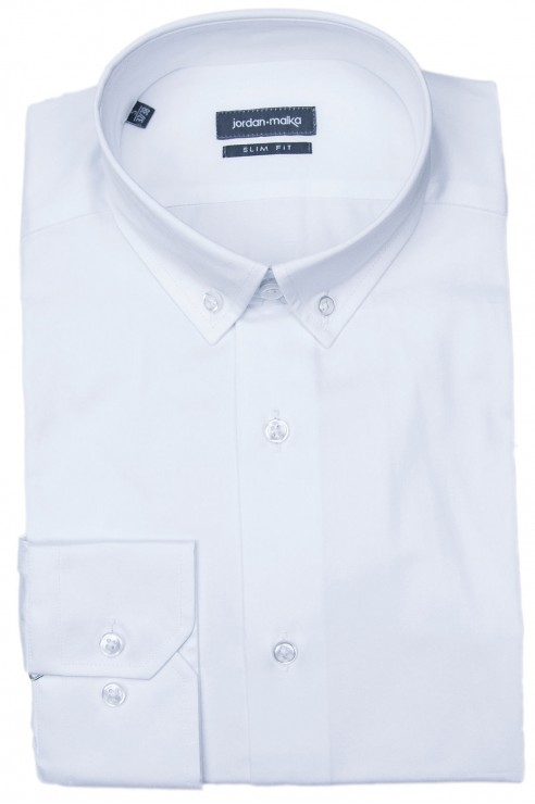 Chemise Blanche Col Américain